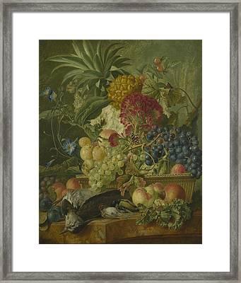 Fruit Flowers And Dead Birds Framed Print