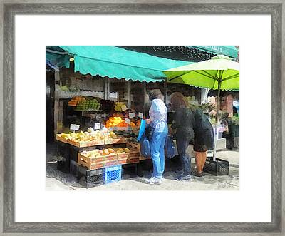 Fruit For Sale Hoboken Nj Framed Print