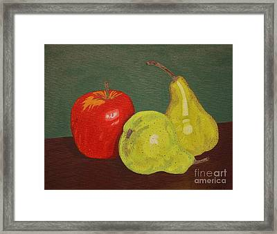 Fruit For Teacher Framed Print by Vicki Maheu