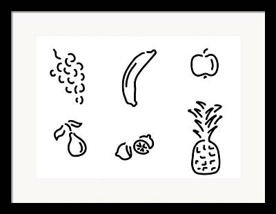 Vegetable Drawings Framed Prints