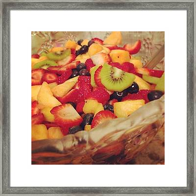 #fruit #fruitsalad #fruitsbasket #fresh Framed Print