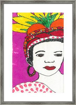 Fruit Hat Framed Print