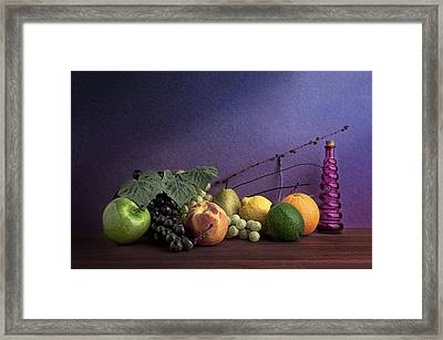 Fruit In Still Life Framed Print by Tom Mc Nemar