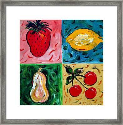 Fruit Ll Framed Print by Cynthia Hudson