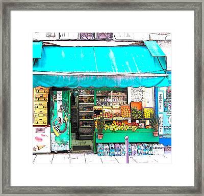 Fruit Market In Paris Framed Print by Jan Matson
