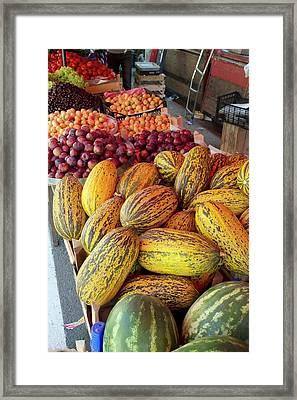 Fruit Market Stall Framed Print by Bob Gibbons