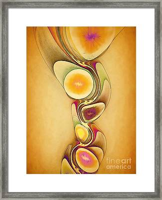 Fruit Mask For Body Framed Print