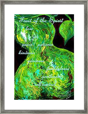 Fruit Of The Spirit Framed Print by Eloise Schneider