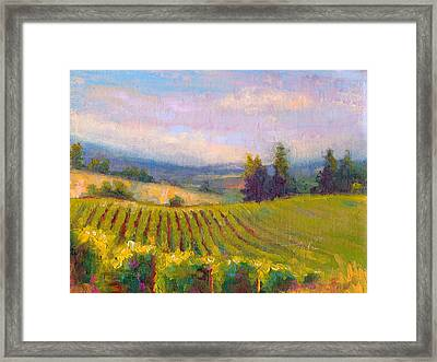Fruit Of The Vine - Sokol Blosser Winery Framed Print by Talya Johnson