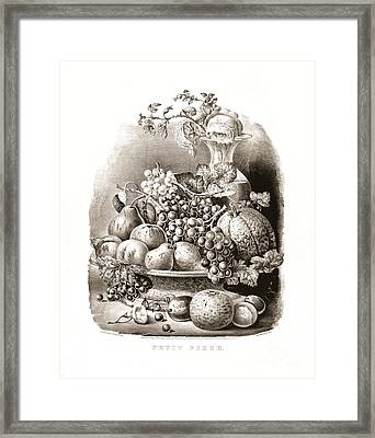 Fruit Piece - 1859 Framed Print