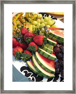 Fruit Plate Framed Print by Scott Kingery