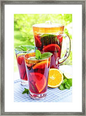 Fruit Punch  Framed Print by Elena Elisseeva