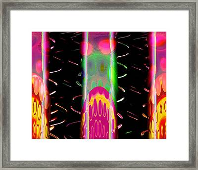 Fruit Punch In Tall Glasses Framed Print by Wendy J St Christopher