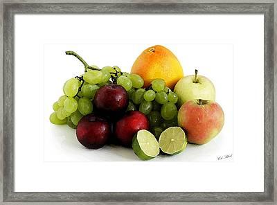 Fruit Salad Framed Print by Cole Black