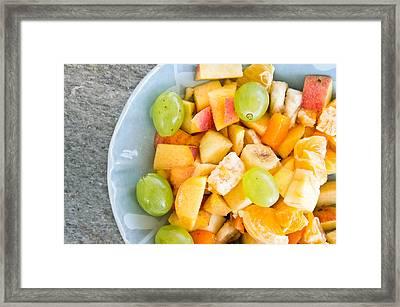 Fruit Salad Framed Print by Tom Gowanlock