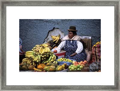 Fruit Seller Framed Print