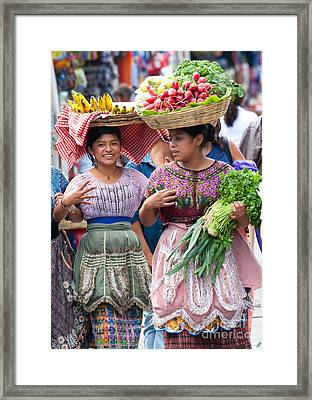 Fruit Sellers In Antigua Guatemala Framed Print