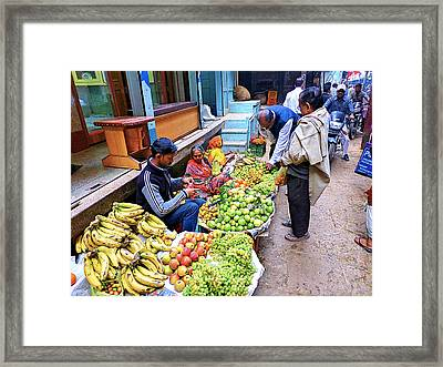 Fruit Shop Framed Print by Girish J