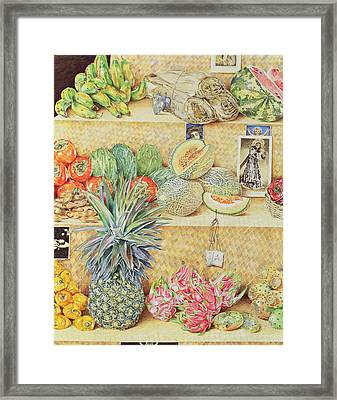 Fruit-stall, La Laguinilla, 1998 Oil On Canvas Detail Of 240164 Framed Print