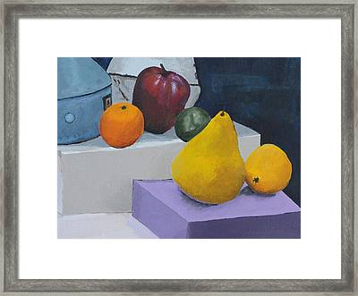 Fruit Stand Framed Print