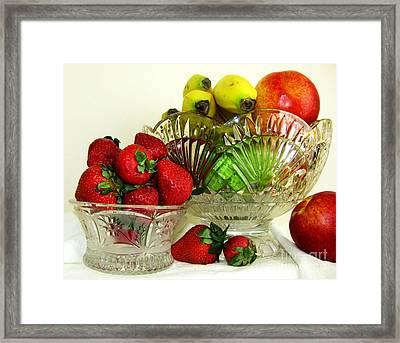 Fruit Still Life 1 Framed Print by Margaret Newcomb