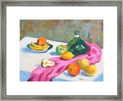 Fruit Still Life Framed Print by Val Miller