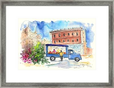Fruit Street Seller In Palermo Framed Print by Miki De Goodaboom
