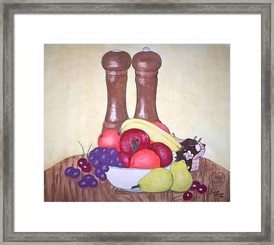Fruit Table Framed Print