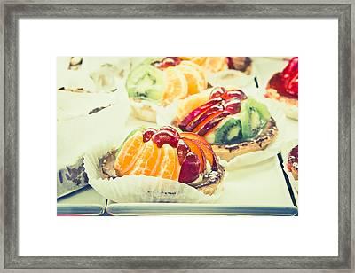 Fruit Tarts Framed Print by Tom Gowanlock