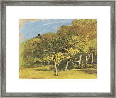Fruit Trees Framed Print by Claude Monet