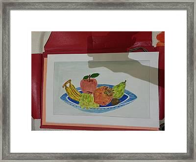 Fruit Trey Framed Print by Ramroop Yadav