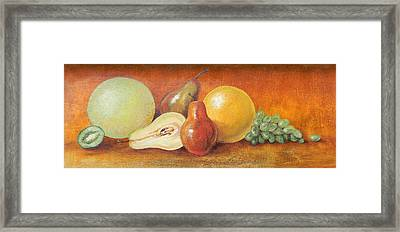 Fruit Variety Framed Print by Judy Bruning