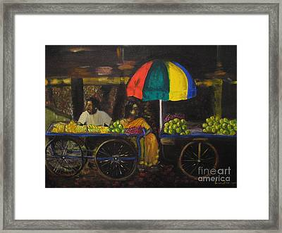 Fruit Vendors Framed Print by Brindha Naveen
