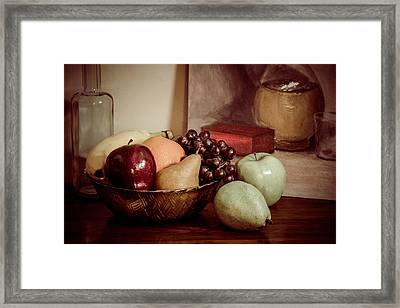 Fruit With Painting Framed Print by Brian Caldwell