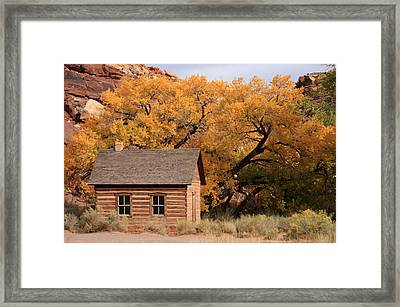 Fruita Schoolhouse, Capital Reef, Utah Framed Print