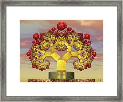 Fruiting Pythagoras Tree Fractal Framed Print