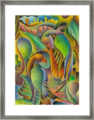 Fruits And Birds  Framed Print by Jaanaka Kandepola