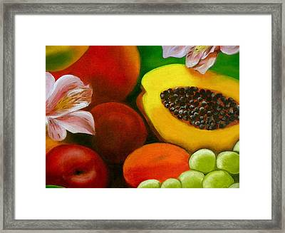 Fruits And Flowers Framed Print