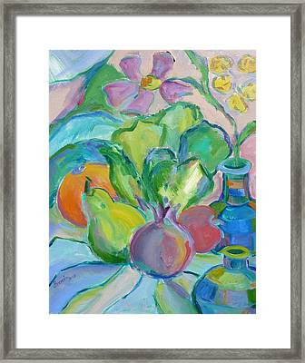 Fruits And Veggies  Framed Print by Brenda Ruark