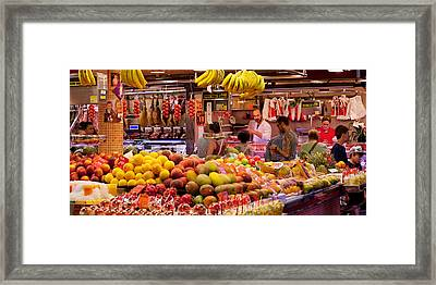 Fruits At Market Stalls, La Boqueria Framed Print by Panoramic Images