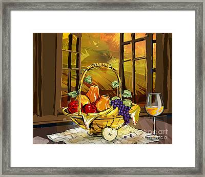 Fruits Basket Framed Print