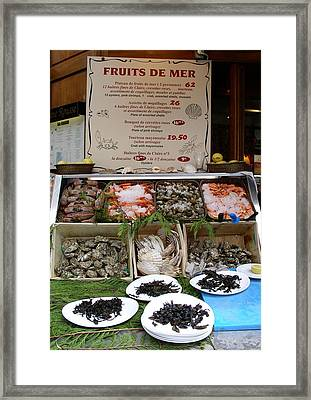 Framed Print featuring the photograph Fruits De Mer by Cleaster Cotton