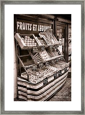 Fruits Et Legumes Framed Print