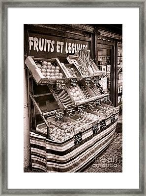 Fruits Et Legumes Framed Print by Olivier Le Queinec
