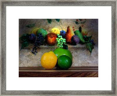 Fruits Galore Framed Print by Cecil Fuselier