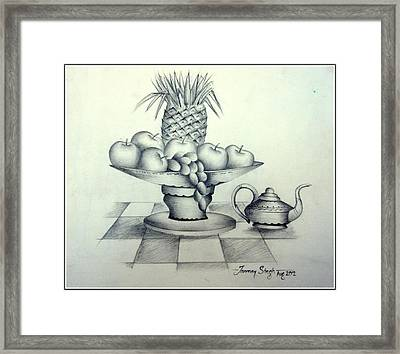 Fruits In Basket Framed Print by Tanmay Singh