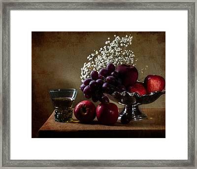 Fruits In Tazza And Berkemeyer Framed Print