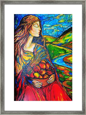 Fruits Of Labor Framed Print by Rae Chichilnitsky