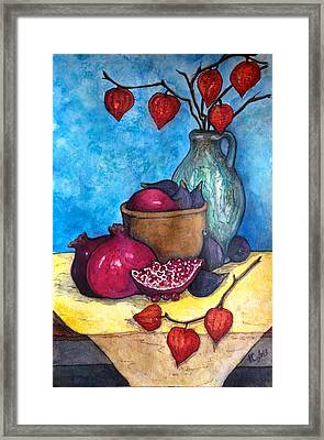 Fruits Of Season  Framed Print by Rae Chichilnitsky