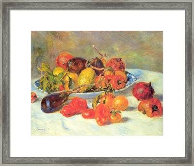 Framed Print featuring the painting Fruits Of The Midi  by Renoir